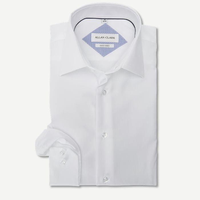Twill Skjorte - Skjorter - Modern fit - Hvid