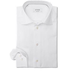 Signature Twill Dress Skjorte Contemporary fit | Signature Twill Dress Skjorte | Hvid