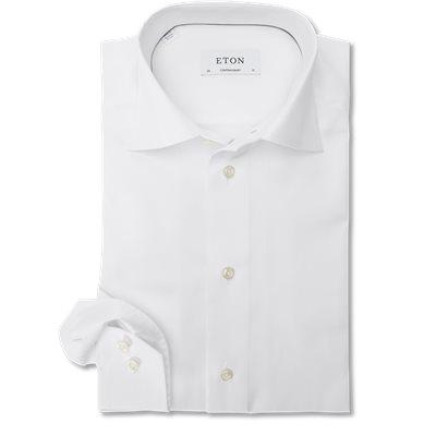 3000 Signature Twill Dress Skjorte Contemporary fit | 3000 Signature Twill Dress Skjorte | Hvid