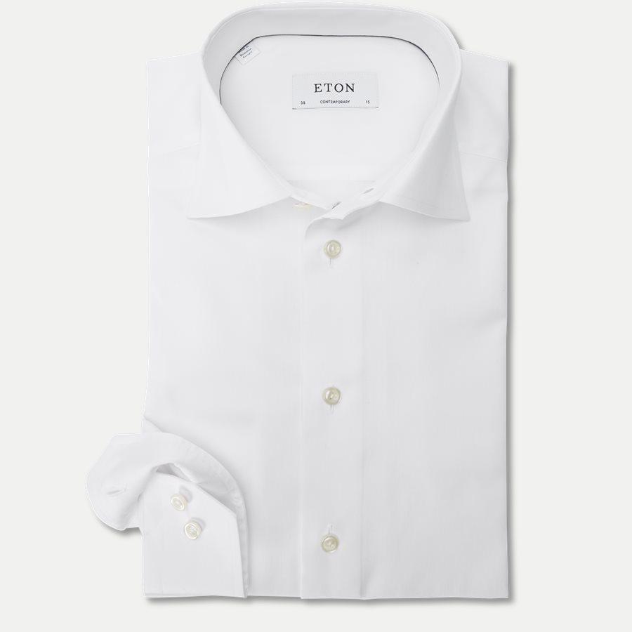 3000 79311 CONTEMPORARY - 3000 Signature Twill Dress Skjorte - Skjorter - Contemporary fit - HVID - 1