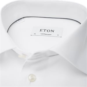 Signature Twill Dress Skjorte Contemporary fit   Signature Twill Dress Skjorte   Hvid