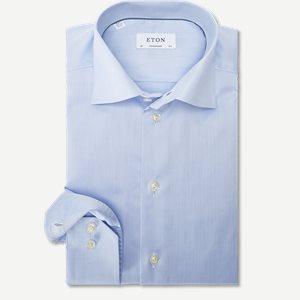 Signature Twill Dress Skjorte Contemporary fit | Signature Twill Dress Skjorte | Blå