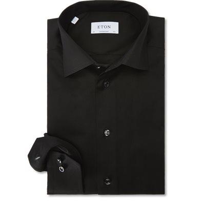3000 Signature Twill Dress Skjorte Contemporary fit | 3000 Signature Twill Dress Skjorte | Sort