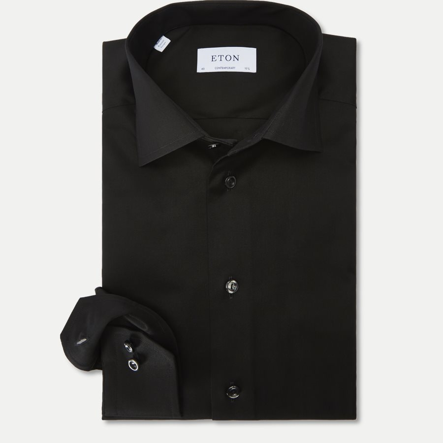 3000 79311 CONTEMPORARY - 3000 Signature Twill Dress Skjorte - Skjorter - Contemporary fit - SORT - 1