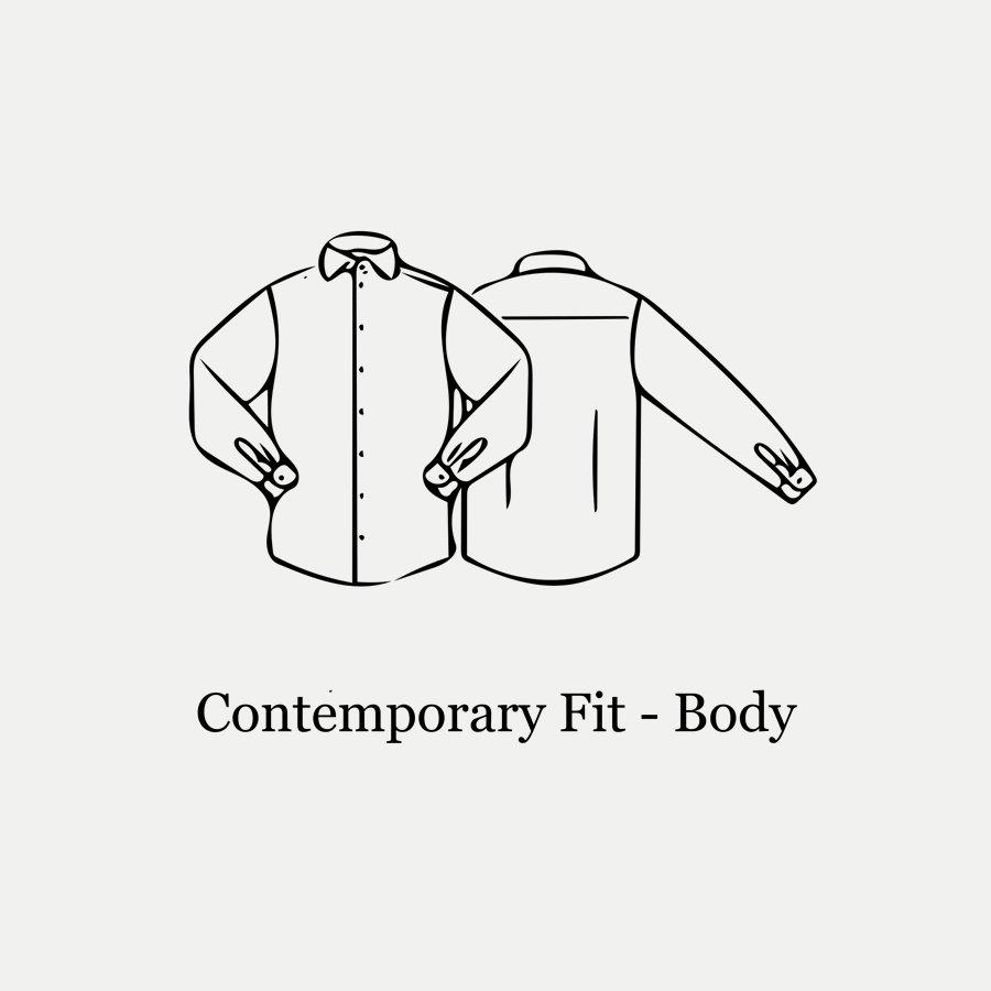 3000 79311 CONTEMPORARY - 3000 Signature Twill Dress Skjorte - Skjorter - Contemporary fit - SORT - 6