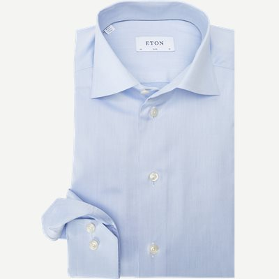 Signature Twill Dress Skjorte Slim | Signature Twill Dress Skjorte | Blå