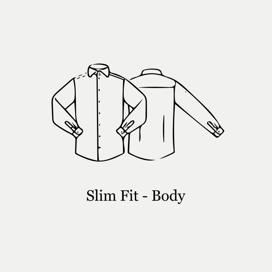 3000 79511 SLIM - 3000 Signature Twill Dress Skjorte - Skjorter - Slim - BLÅ - 6