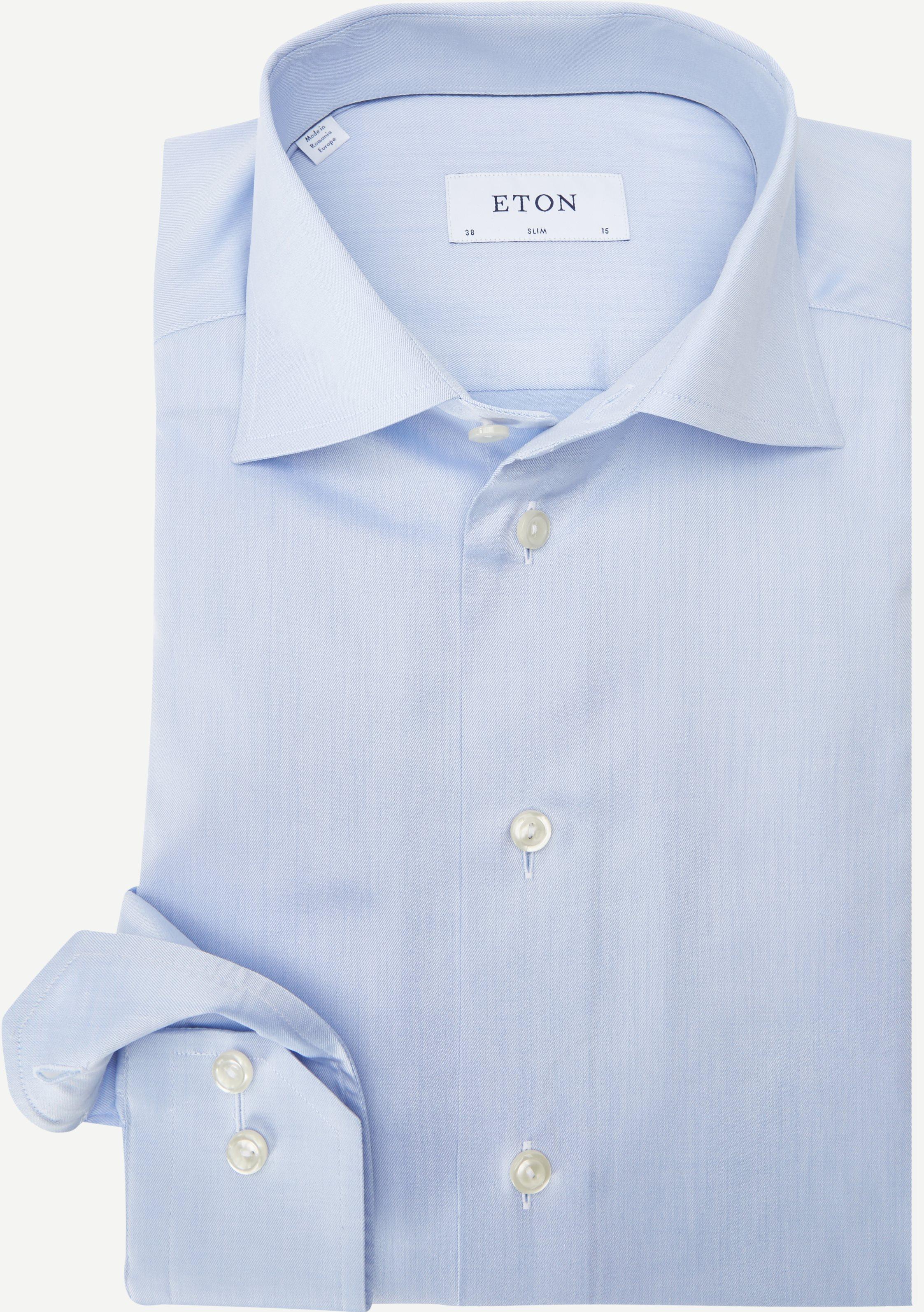 3000 Signature Twill Dress Skjorte - Skjorter - Slim fit - Blå