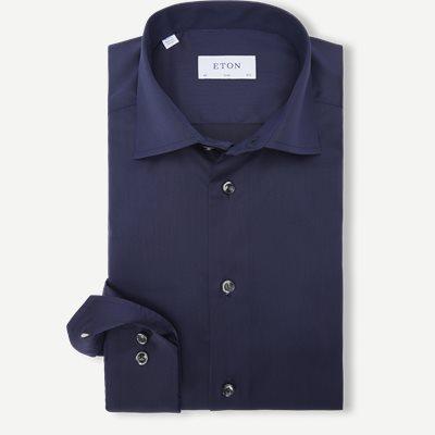 3000 Signature Twill Dress Skjorte Slim | 3000 Signature Twill Dress Skjorte | Blå