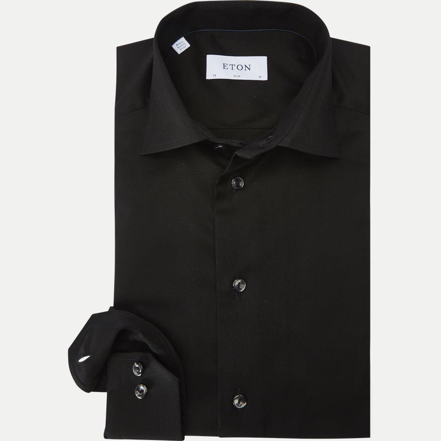 3000 79511 SLIM - 3000 Signature Twill Dress Skjorte - Skjorter - Slim - SORT - 1