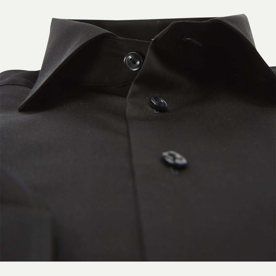 3000 79511 SLIM - 3000 Signature Twill Dress Skjorte - Skjorter - Slim - SORT - 3