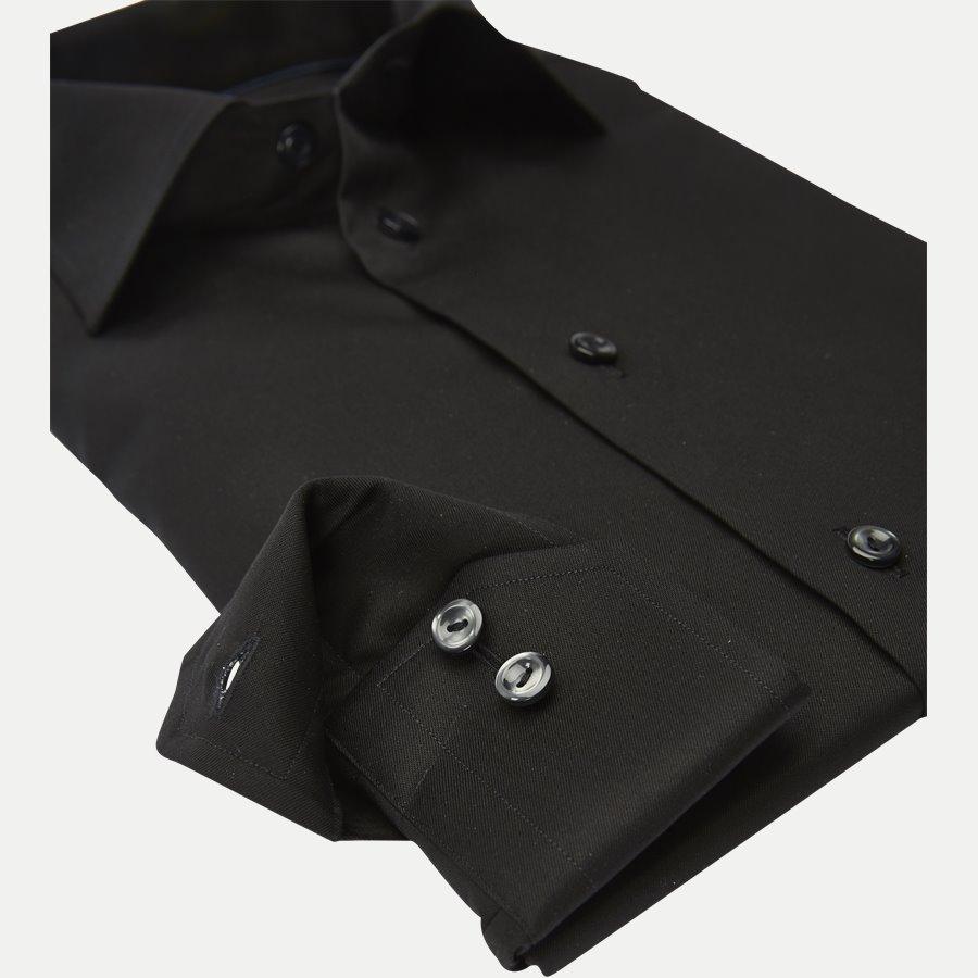 3000 79511 SLIM - 3000 Signature Twill Dress Skjorte - Skjorter - Slim - SORT - 4