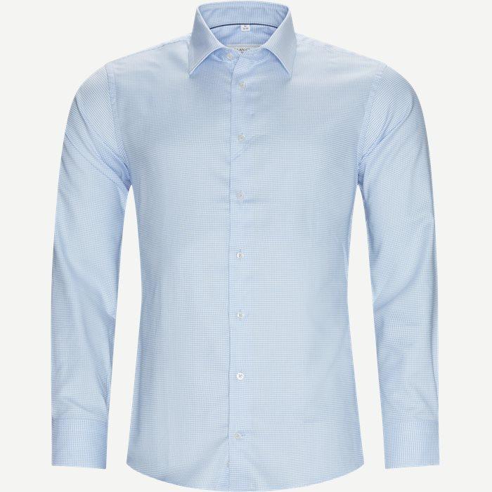 Mens Shirt - Skjortor - Modern fit - Blå