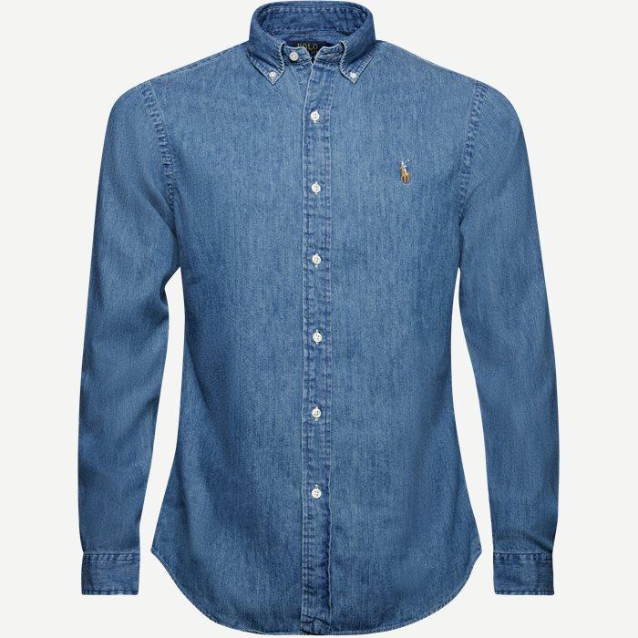 Button-down Denim skjorte - Skjorter - Slim - Denim