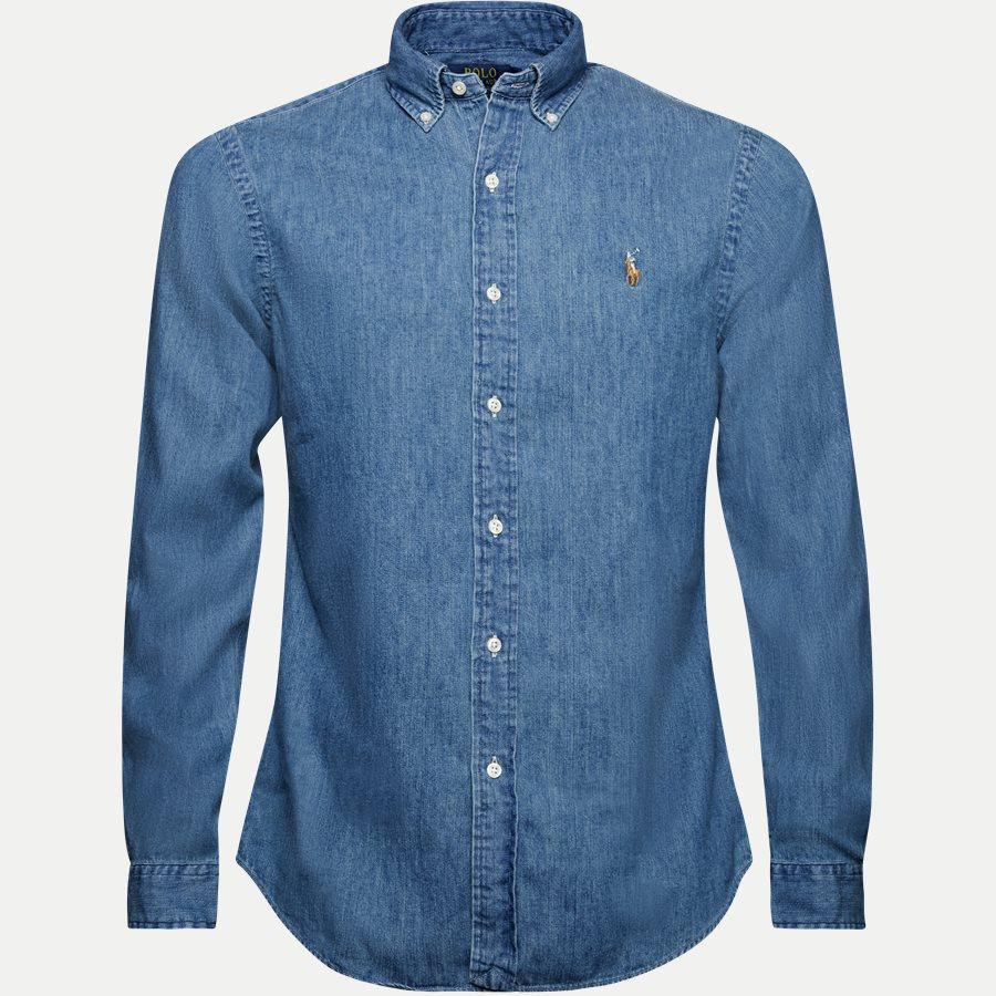 A04WSL3BCD018 FW14 - Button-down Denim skjorte - Skjorter - Slim - DENIM - 1