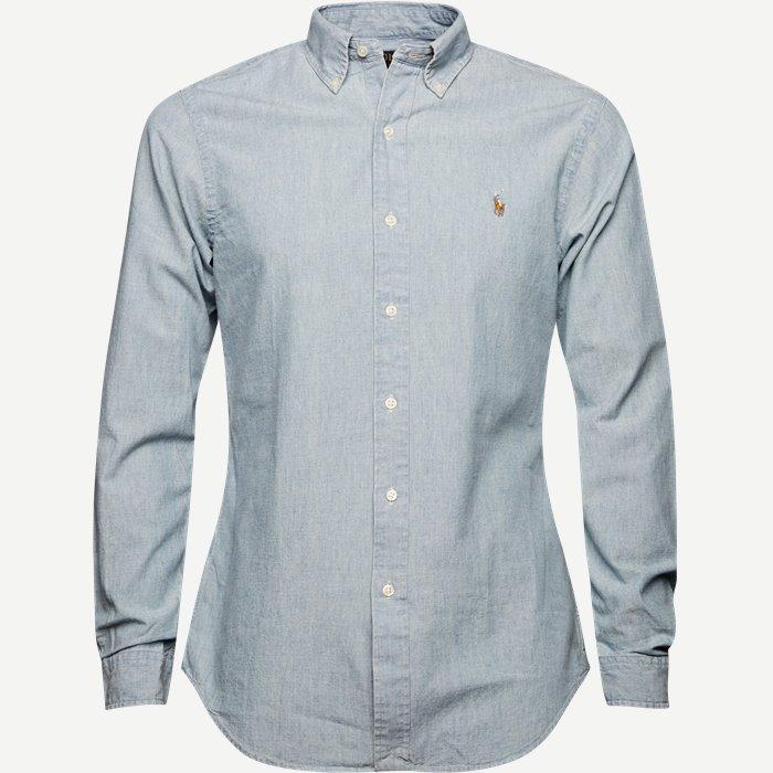 Botton-down Denim skjorte - Skjorter - Slim - Blå