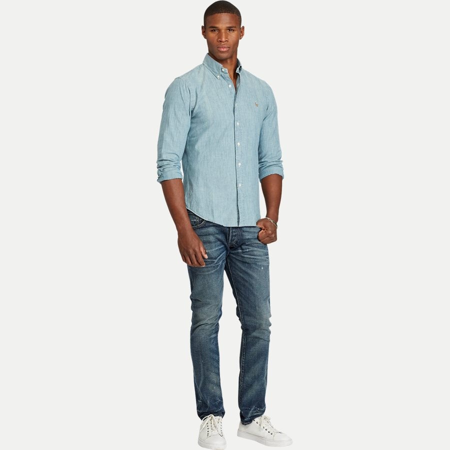 A04WSL3BC0210 FW14 - Botton-down Denim skjorte - Skjorter - Slim - BLÅ - 3