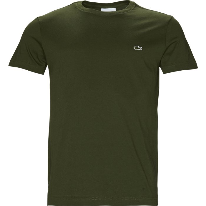 TH2038 TEE S/S - T-shirts - Regular - Army