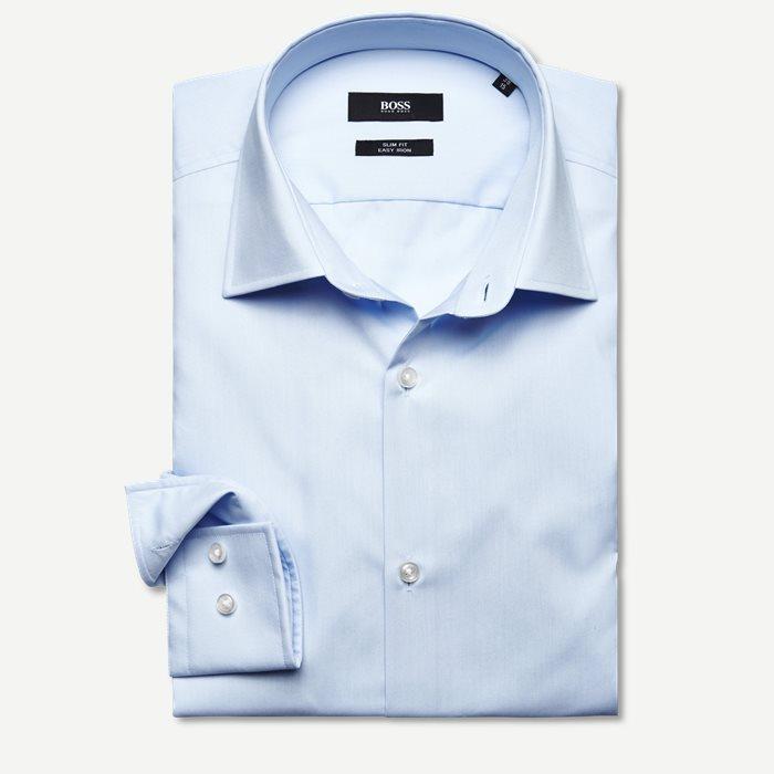 Jenno Skjorte - Skjorter - Slim - Blå