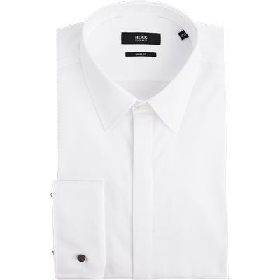 Ilias Smoking Skjorte Slim | Ilias Smoking Skjorte | Hvid