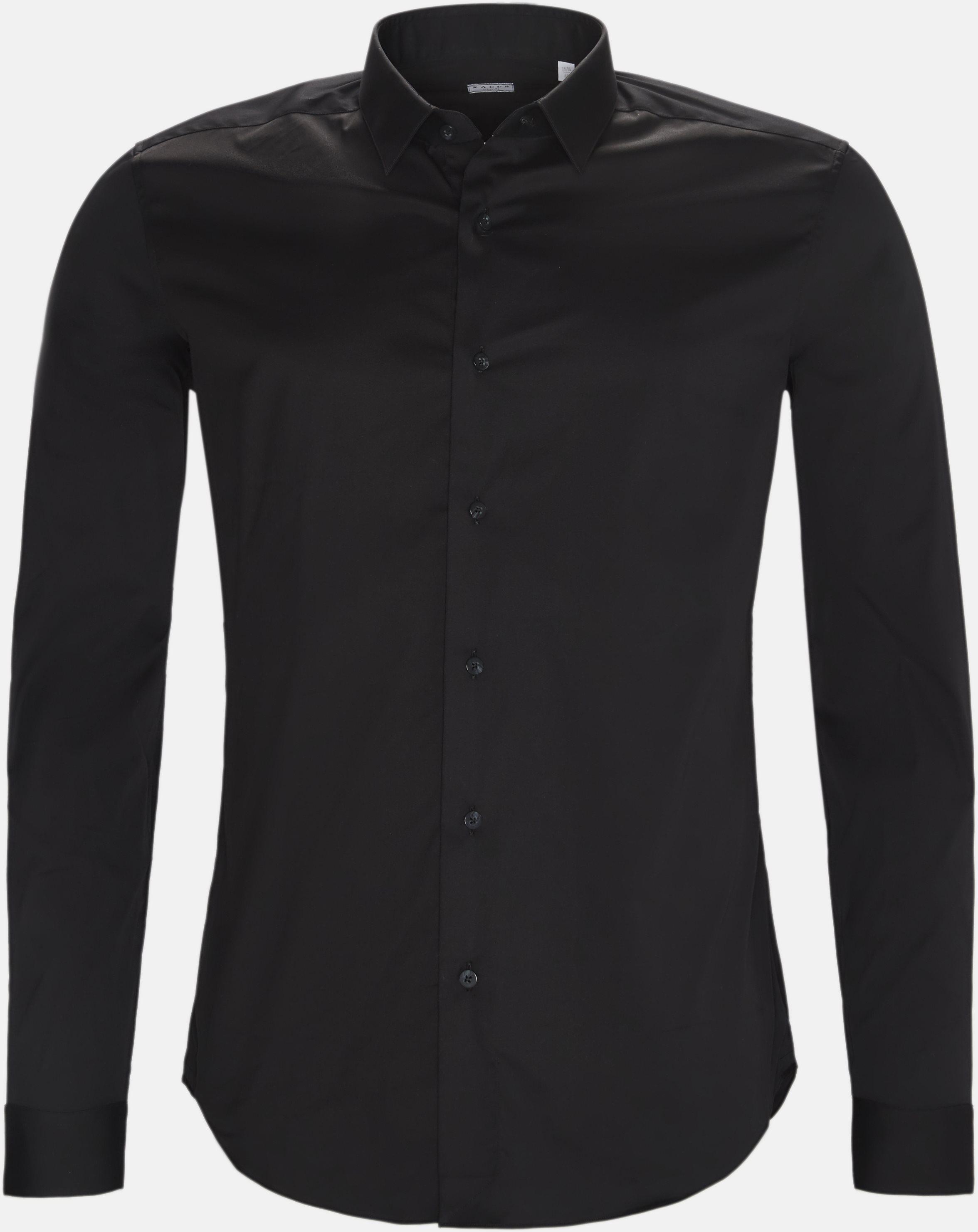 16125 661ML NY skjorte - Skjorter - Sort