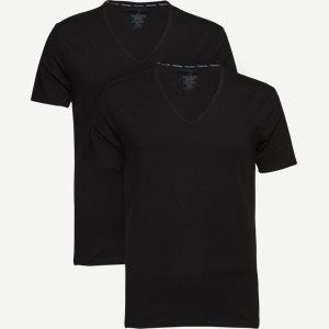 2-pak V-hals t-shirt Slim | 2-pak V-hals t-shirt | Sort