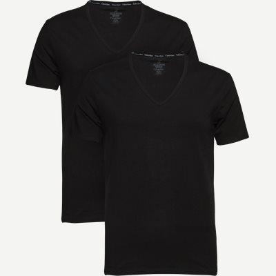 2-pak V-hals t-shirt Slim   2-pak V-hals t-shirt   Sort