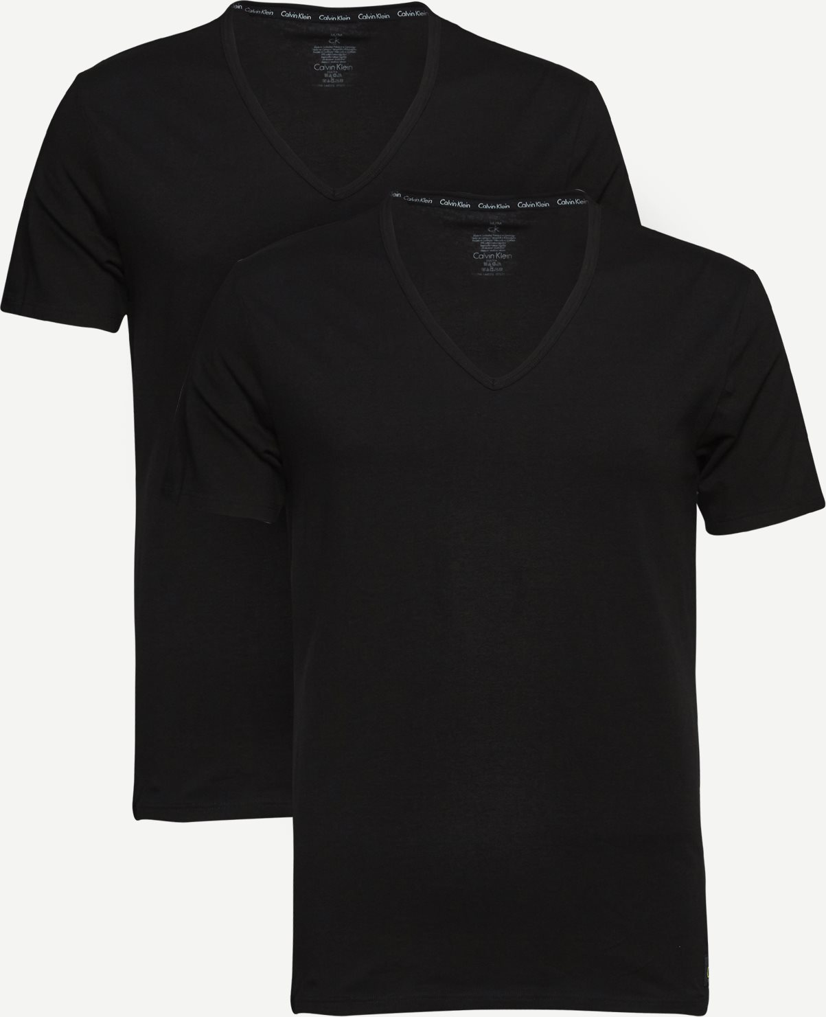 2-pak V-hals t-shirt - Undertøj - Slim fit - Sort
