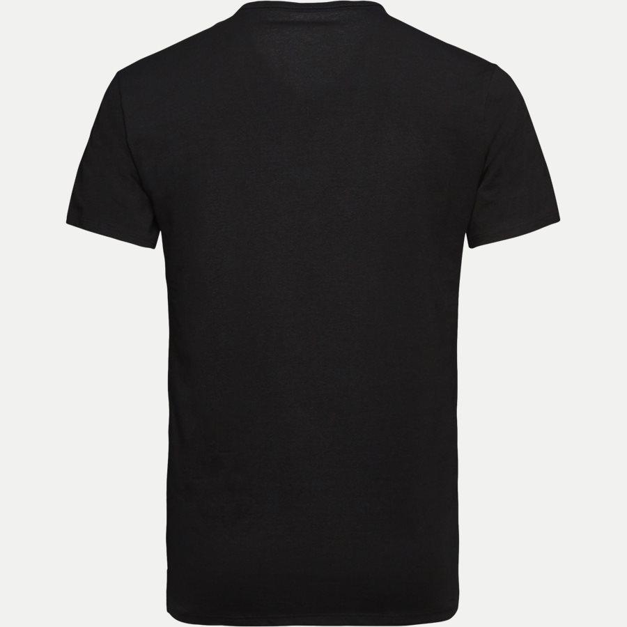 NB1089A 2PACK V NECK - 2-pak V-hals t-shirt - Undertøj - Slim - BLACK - 3