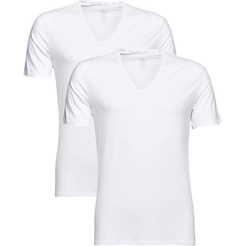 Calvin klein - 2-pak v-hals t-shirt fra calvin klein fra kaufmann.dk