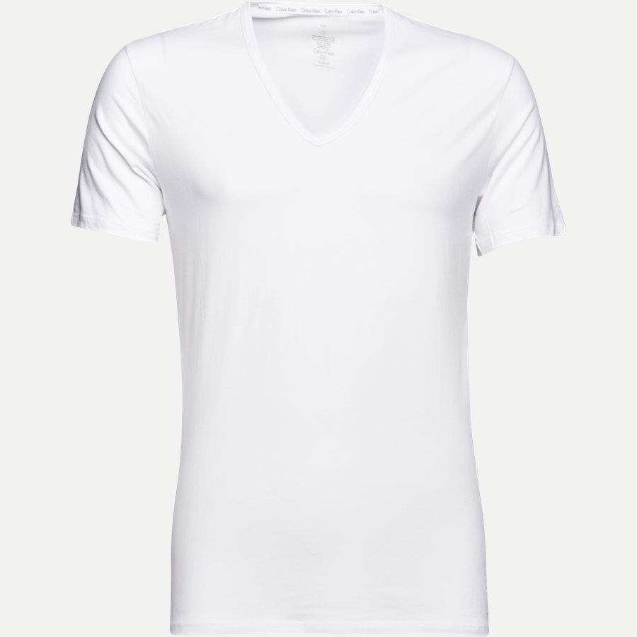 NB1089A 2PACK V NECK - 2-pak V-hals t-shirt - Undertøj - Slim - WHITE - 2