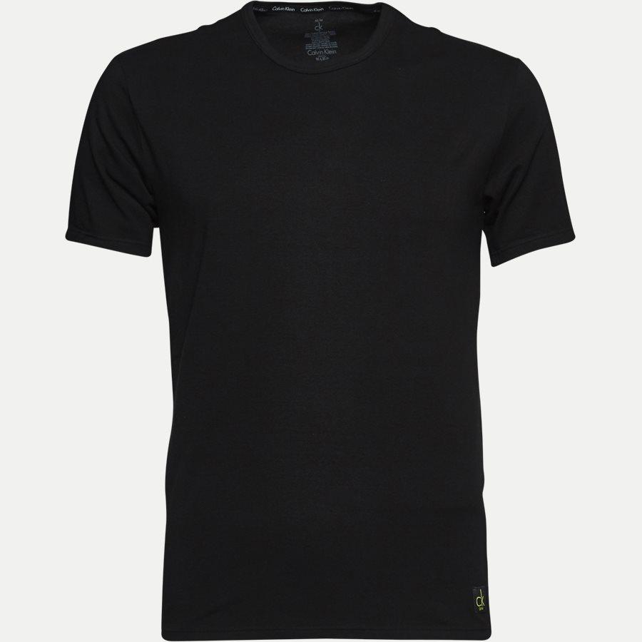 NB1088A 2 PACK CREW NECK - 2-pak Rundhalset T-shirt - Undertøj - Regular - BLACK - 2