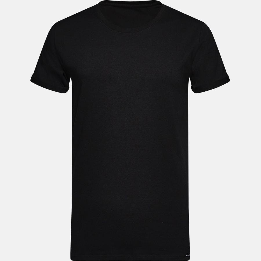 BASIC - Basic T-shirt - T-shirts - BLACK - 1
