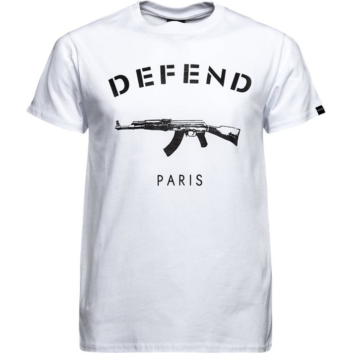 PARIS TEE S/S - T-shirts - Regular - Hvid