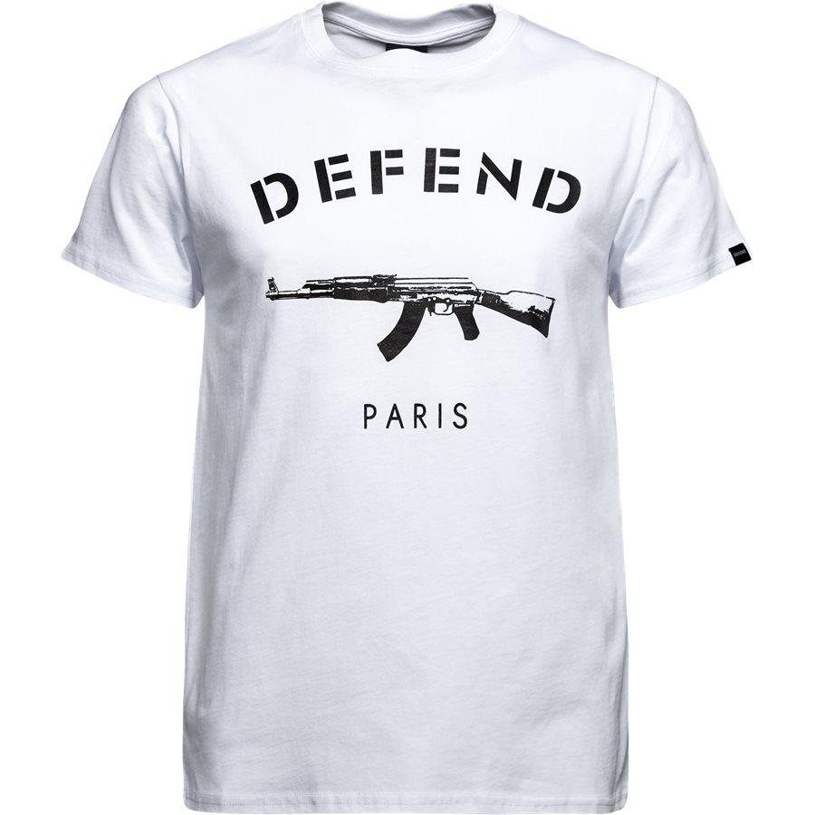 PARIS TEE S/S - PARIS TEE S/S - T-shirts - Regular - HVID - 1