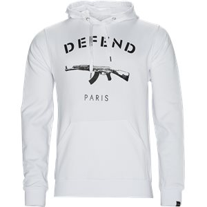PARIS HOOD SWEAT SHIRT Regular | PARIS HOOD SWEAT SHIRT | Hvid