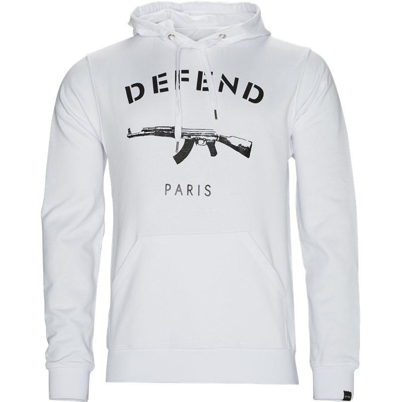 Billede af Defend Paris Paris Hood Sweat Shirt Hvid