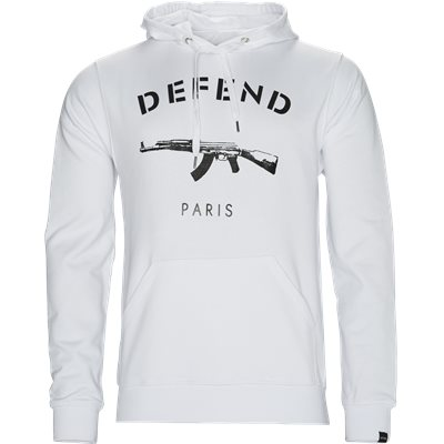 Paris Hood Sweatshirt Regular | Paris Hood Sweatshirt | Hvid
