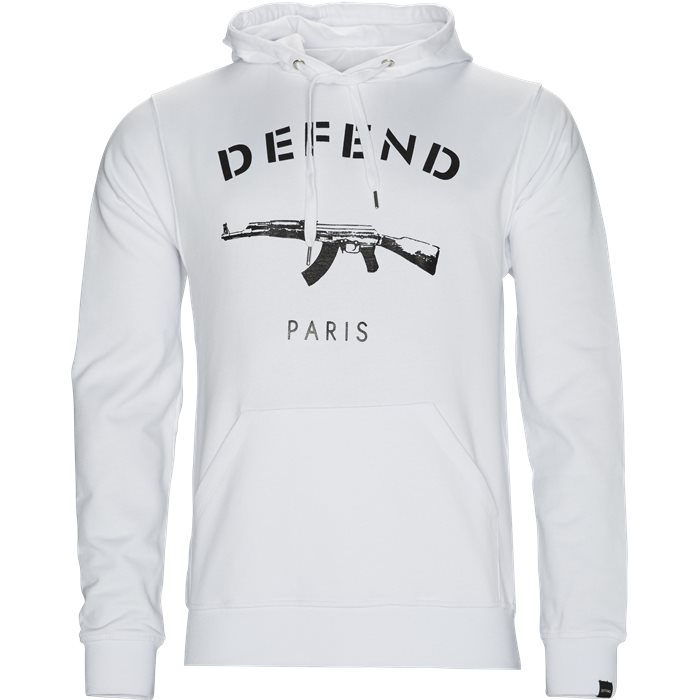 Paris Hood Sweatshirt - Sweatshirts - Regular - Hvid