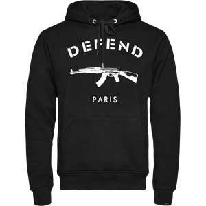 Paris Hood Sweatshirt Regular | Paris Hood Sweatshirt | Sort