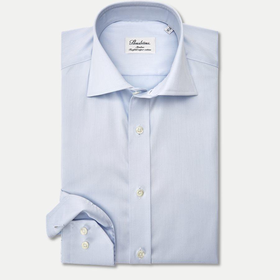 1467-000/100 SLIM - Twofold Super Cotton Skjorte - Skjorter - Slim - BLÅ - 1