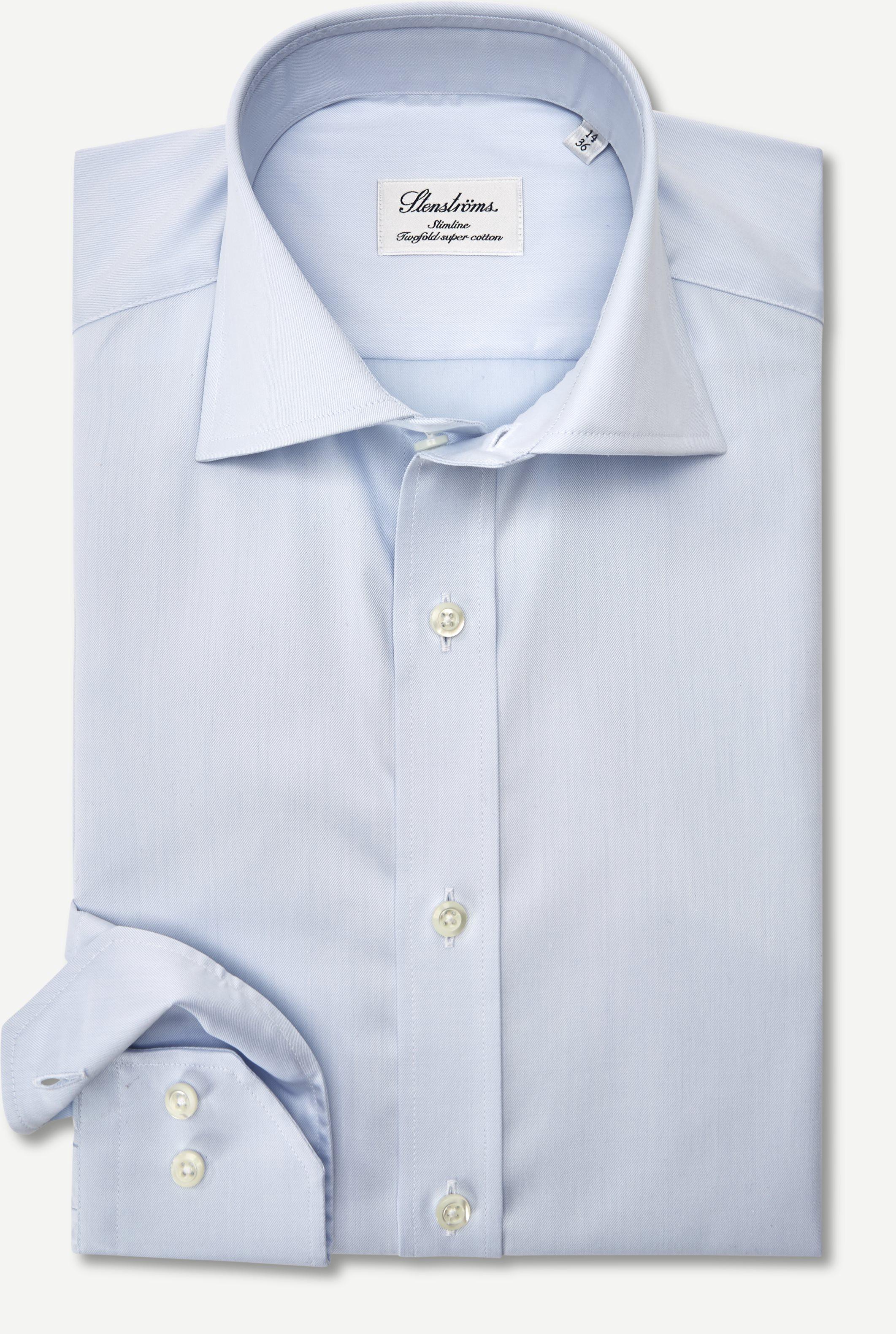 Twofold Super Cotton Skjorte - Skjorter - Slim fit - Blå