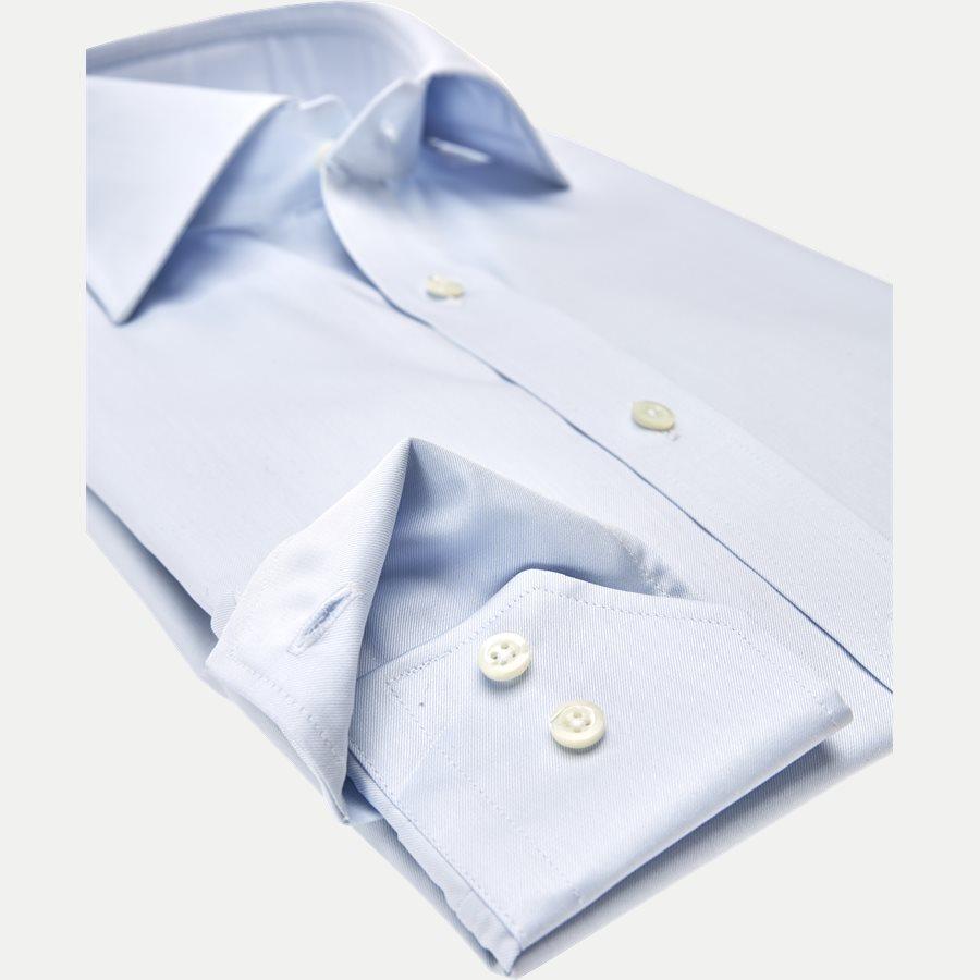 1467-000/100 SLIM - Twofold Super Cotton Skjorte - Skjorter - Slim - BLÅ - 3