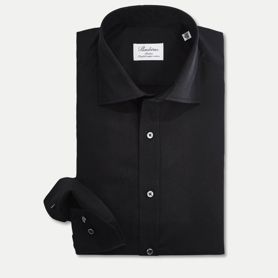 1465-600 SLIM - Dress Skjorte - Skjorter - Slim - SORT - 1