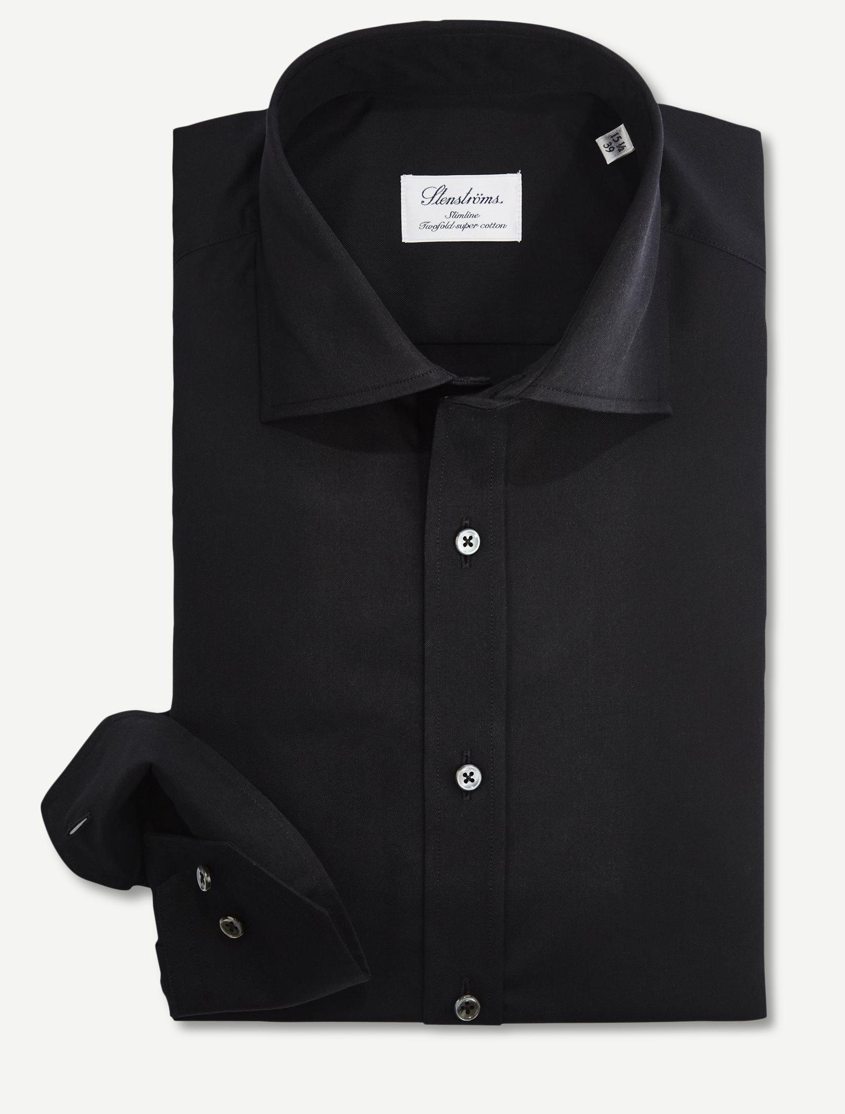 Dress Skjorte - Skjorter - Slim fit - Sort