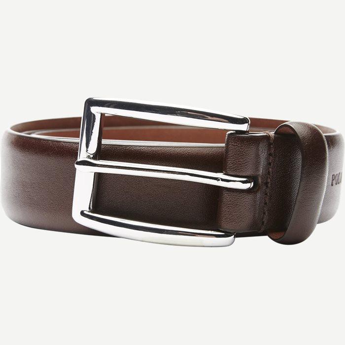 Cowhide 3 cm. Leather Belt - Bælter - Brun