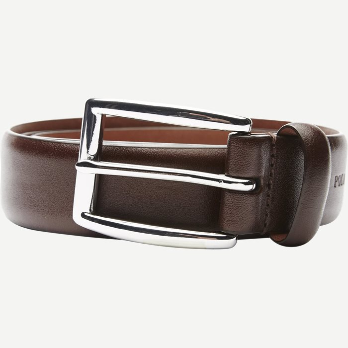 Cowhide 3 cm. Leather Belt - Bælter - Brun