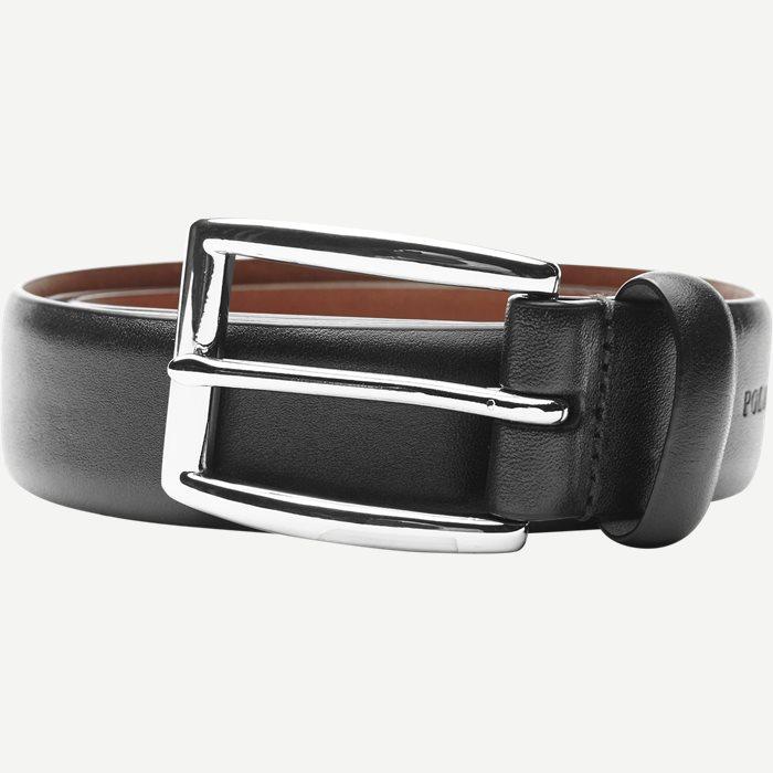 Cowhide 3 cm. Leather Belt - Bælter - Sort