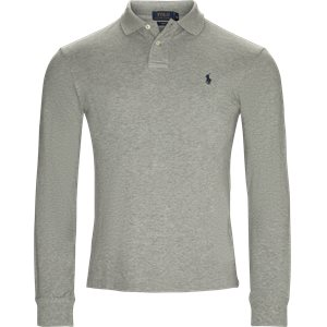 Long Sleeve Pique Polo Slim | Long Sleeve Pique Polo | Grå