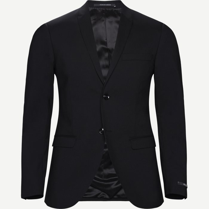 Evert Blazer - Blazer - Slim - Sort